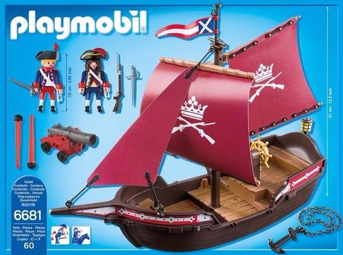 playmobil 6681 barco patrulla de soldados piratas orig intek