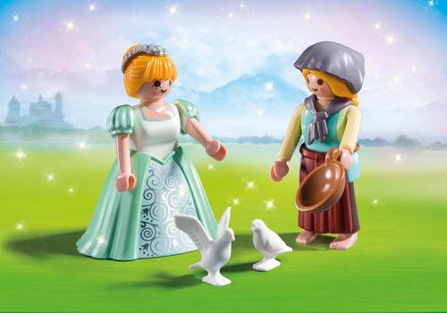 playmobil 6843 duo pack princesa y granjera
