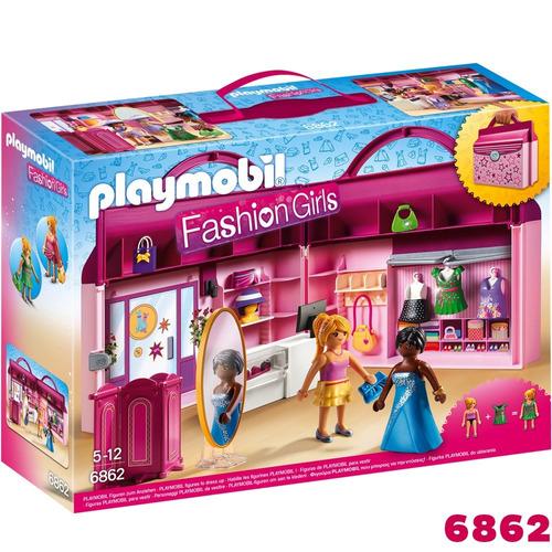 playmobil 6862 fashion - maletín tienda de moda (1852)
