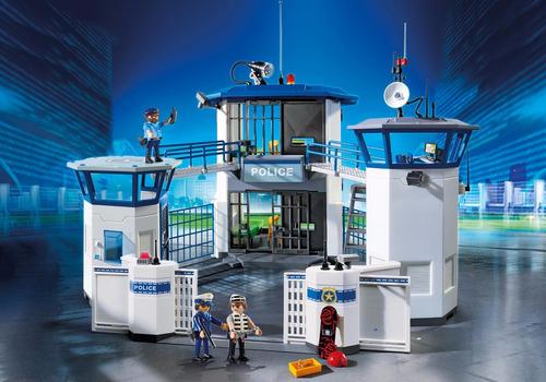 playmobil 6919 comisaria de policia con prision mundo manias