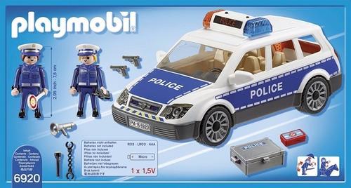 playmobil 6920 city auto policia luz sonido original intek