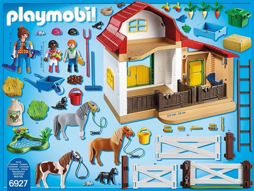playmobil 6927 country granja de ponys original intek