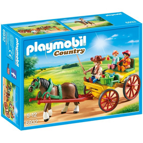 Playmobil 6932 Country Carruaje Con Caballo Orig Intek