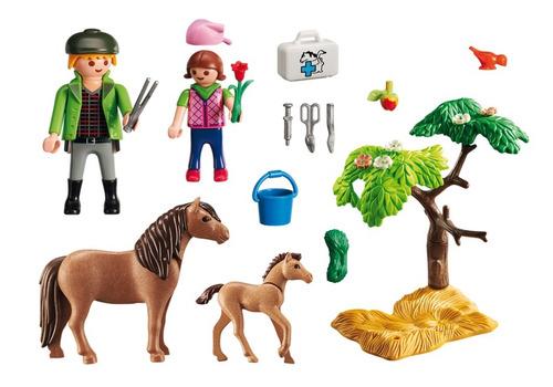 playmobil 6949 veterinario con ponys collagekidsar
