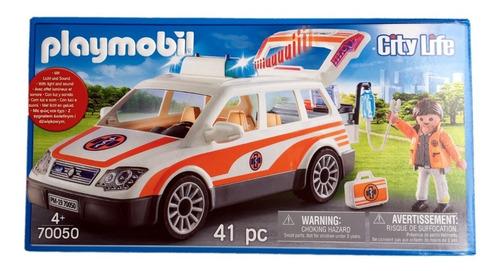 playmobil 70050 veículo de resgate city life geobra