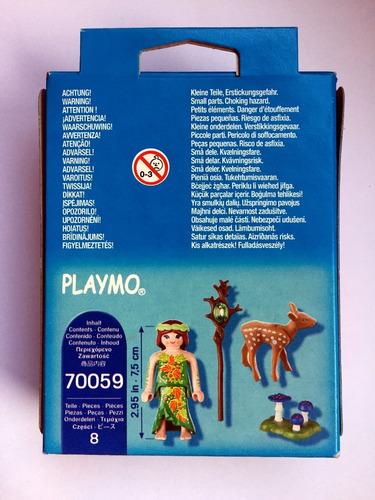 playmobil 70059 special plus fada duende com veado geobra