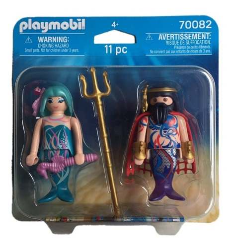 playmobil 70082 duo pack rei dos oceanos e sereia geobra