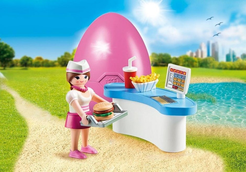 playmobil 70084 garçonete ovo rosa geobra