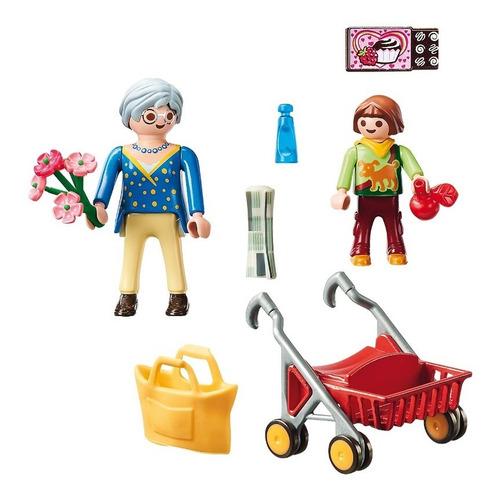 playmobil 70194 vovó e netinha city life geobra