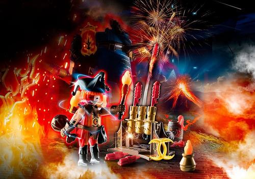 playmobil 70228 mestre dos fogos de artifício novelmore