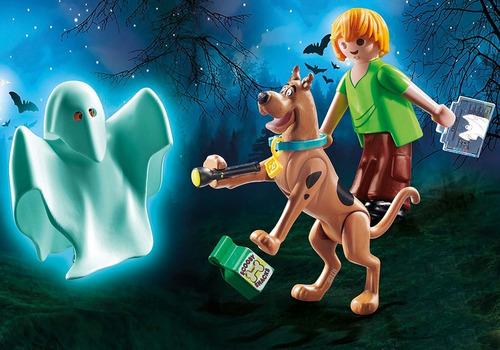 playmobil 70287 scooby doo! scooby y shaggy con fantasma
