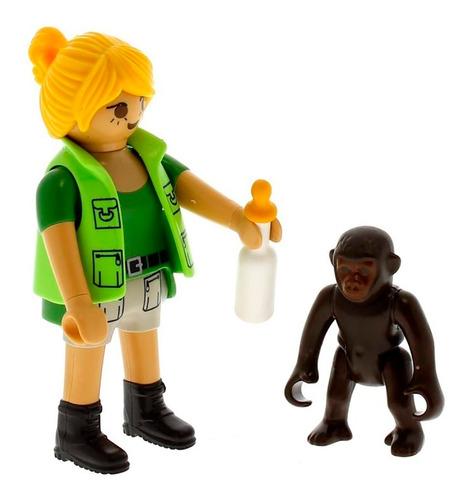 playmobil 9074 friends cuidadora y bebe gorila nuevo bigshop