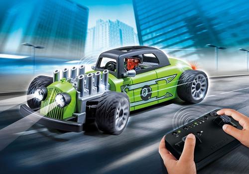 playmobil 9091 carro de corrida com controle remoto action