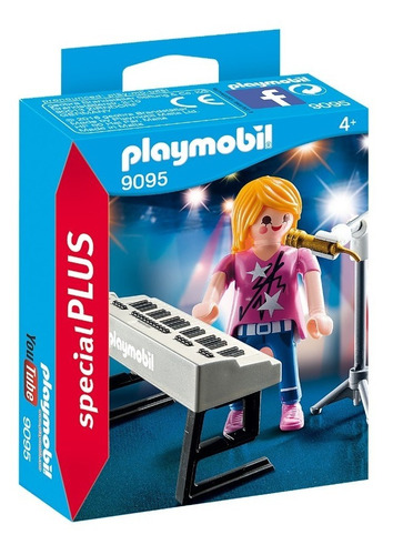 playmobil 9095 cantora com teclado special plus geobra