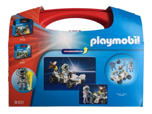 playmobil 9101 maleta exploração espacial city action geobra