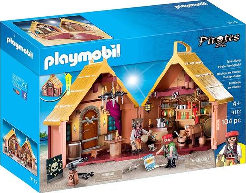 playmobil 9112 fortaleza pirata maletin valija original edu