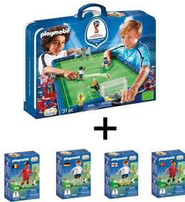 Y De Jugadores Playmobil Regalo Cancha 9298 4 2018 Fútbol 7IY6yvmgbf
