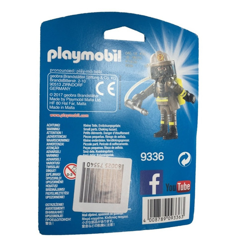 playmobil 9336 bombeiro playmo-friends - geobra