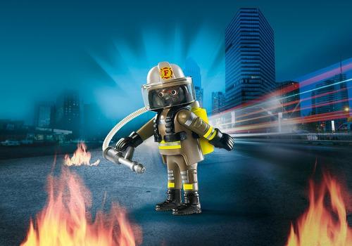 playmobil 9336 bombeiro playmo-friends - geobra