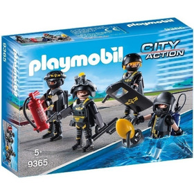 Playmobil 9365 City Policia Equipo De Fuerzas Especiales