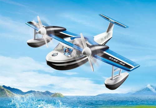 playmobil 9436 action - police water plane