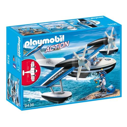 playmobil 9436 hidroavião de policial ação sunny