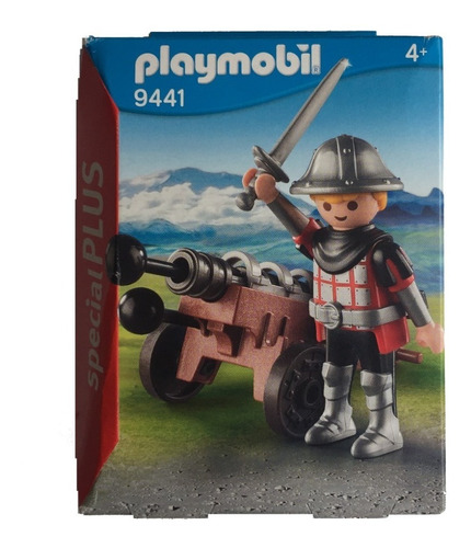 playmobil 9441 special plus cavaleiro com canhão geobra