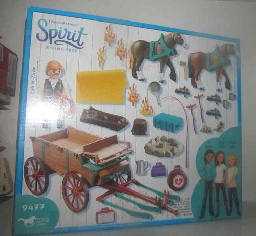 playmobil 9477 spirit papa de lucky y carruaje fotos reales