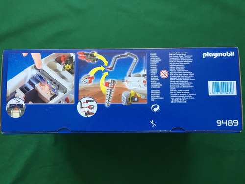 playmobil 9489 veículo de exploração espacial geobra