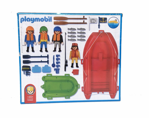 playmobil 9521 rafting y pesca original antex