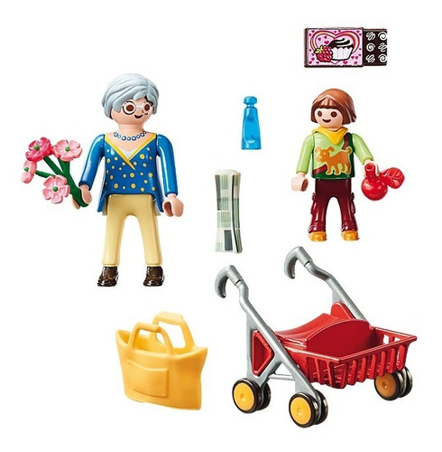 playmobil abuela con niño 70194 city life coleccion educando