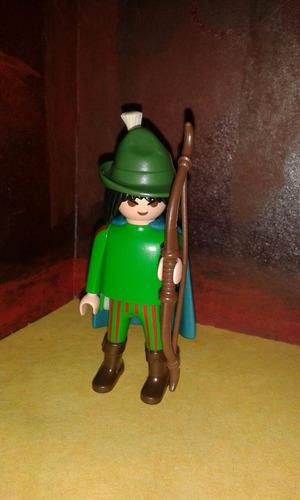 playmobil arquero medieval verde caballeros castillos js b