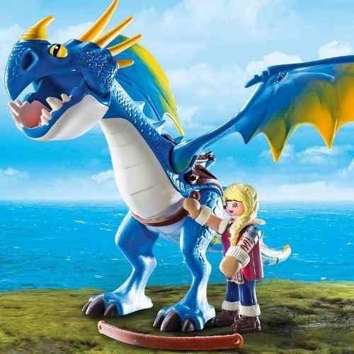 playmobil astrid e tempestade como treinar seu dragão 9247
