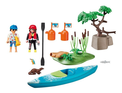 playmobil aventura en canoa 70035 starter pack ink educando