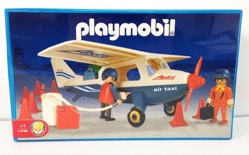 playmobil avioneta con muñecos y accesorios original antex