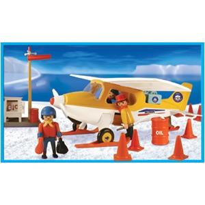 playmobil avioneta polar con muñecos y accesorios original