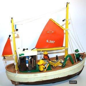 playmobil barco pesquero + 3 figuras art. 3551