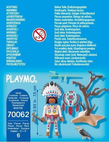 playmobil cacique jefe indio 70062 special plus ink edu full