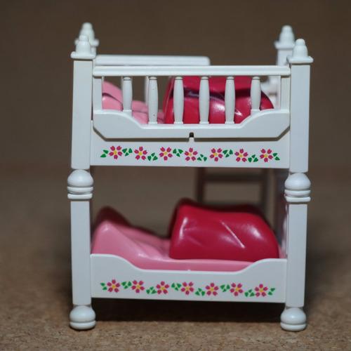 playmobil cama blanca de niños casa victoriana mueble m1