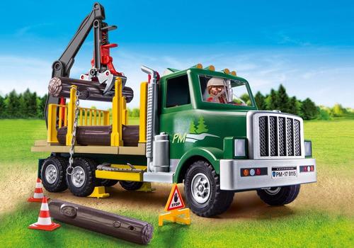 playmobil camion country maderero de bosque art.9115