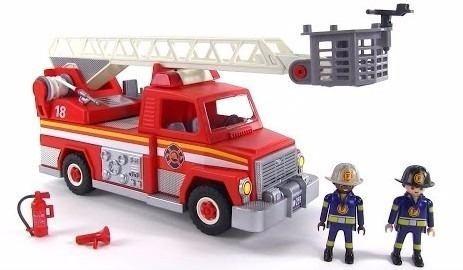 playmobil camion de bomberos 5980 caja rota nuevo