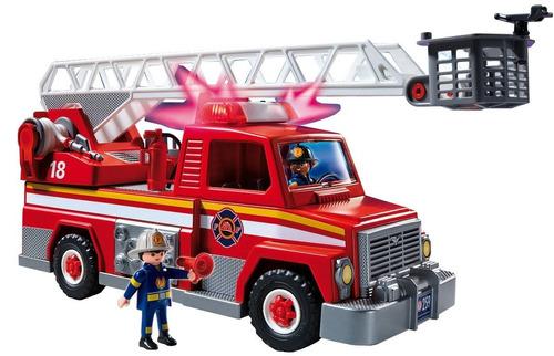 playmobil camion de bomberos 5980 caja rota solo luz