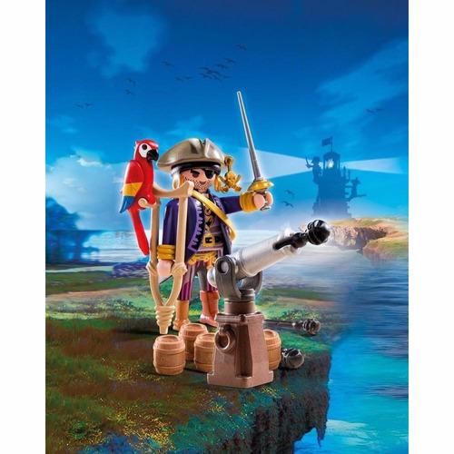 playmobil capitan pirata con cañon y accesorios art.6684