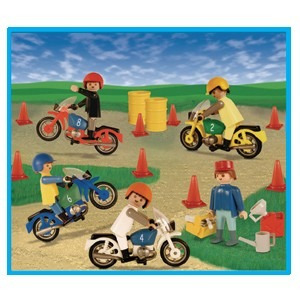 playmobil carrera de motos 9523 original antex