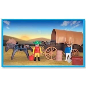 playmobil carreta con toldo con muñecos y accesorios antex