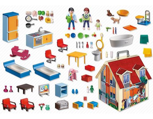 playmobil casa de muñecas maletín con muchos accesorios