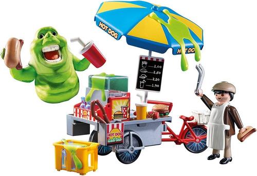 playmobil cazafantasmas slimer con carro de hot dog 9222 edu
