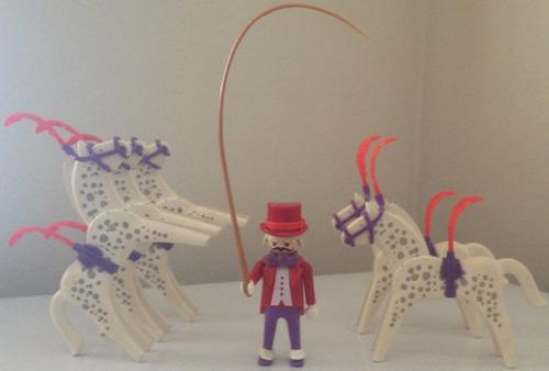 playmobil circo - show de cavalos - 3742