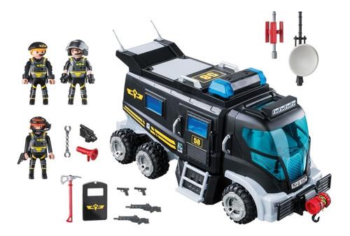 playmobil city action caminhão unidade tática swat 9360