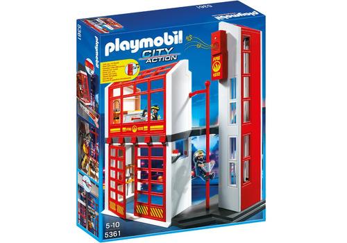 playmobil city action estacion de bomberos con alarma 5361